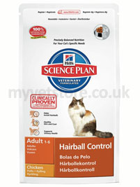 Hill's Science Plan Feline Hairball Control Adult Chicken